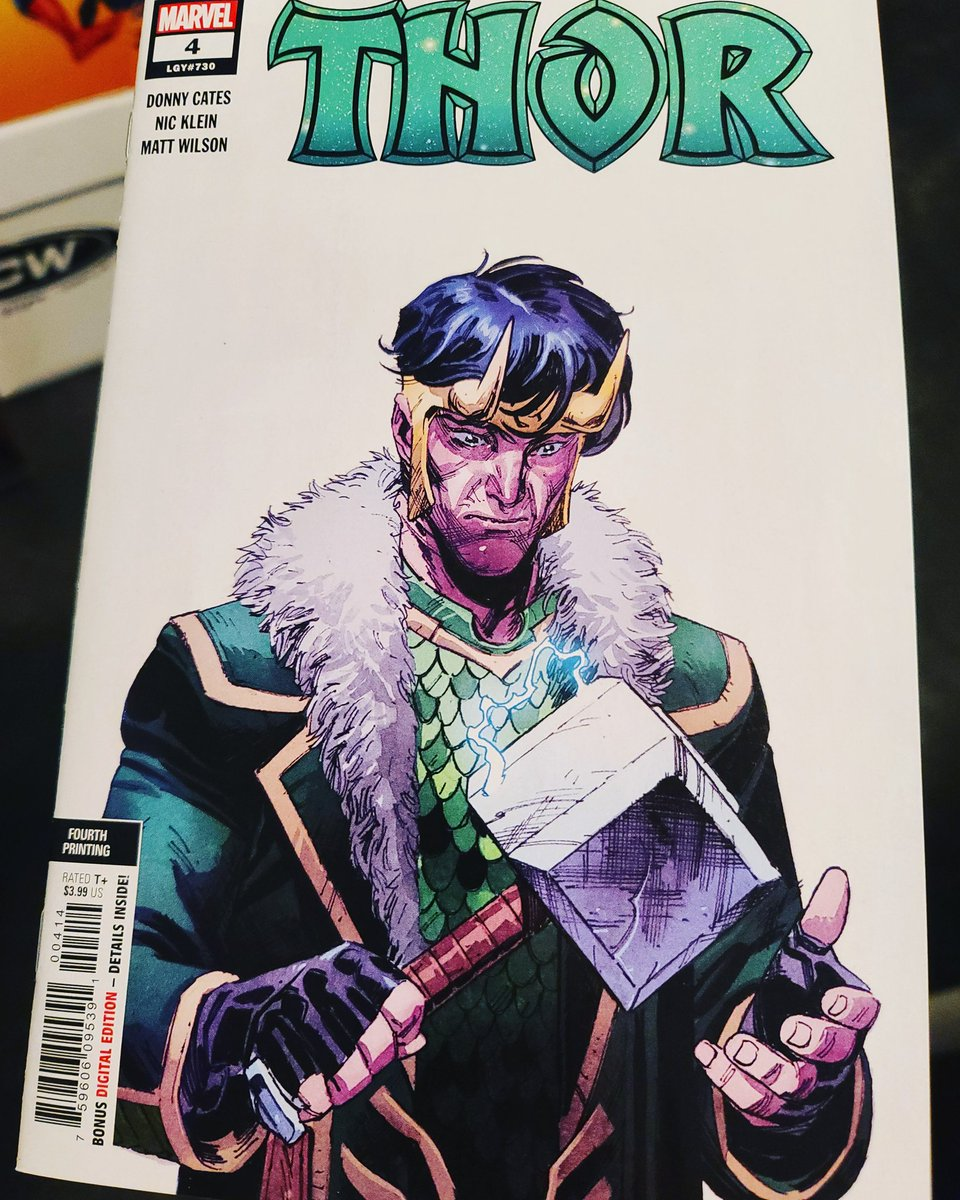 Jesus' #coveroftheday is this Thor #4 Fourth printing cover by Olivier Coipel! Loki with the Hammer! Oh My!!! https://t.co/ZbzUak7JML
