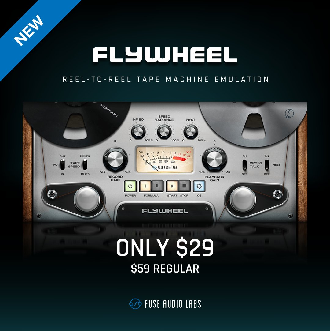 NEW: CHECK OUT FLYWHEEL - OUR TAKE ON REEL-TO-REEL TAPE  Download your fully functional 14-day trial here: https://t.co/pXshbie6Vf  GET FLYWHEEL FOR ONLY $29 ($59 REGULAR) UNTIL NOVEMBER 21ST 2020!  #audioplugin #flywheel #daw #fuseaudiolabs #logic #protools #cubase #studioone https://t.co/Sza3YsU5Yf