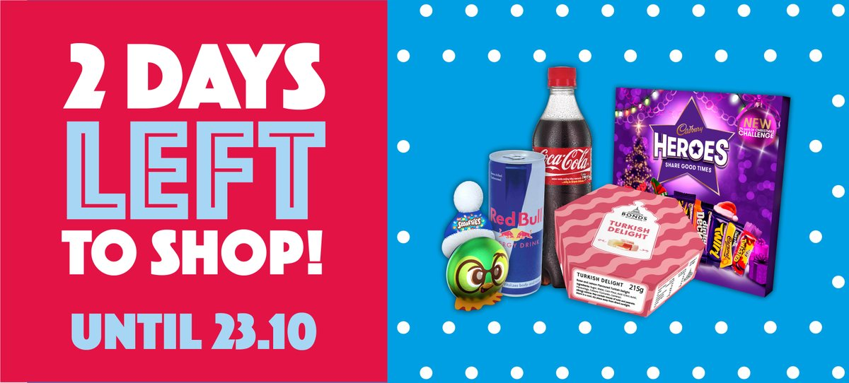 There's 2 DAYS LEFT to shop our 3 WEEK SWEET DEALS!  With huge savings available on BIG BRANDS like Swizzels, Coke, Reese's and Lindor, you don't want to miss out 😱  Head down to your local Cash & Carry or check out all of our current deals online here 👉 https://t.co/6hOZPy6x7W https://t.co/Q4NPAYGu0Z