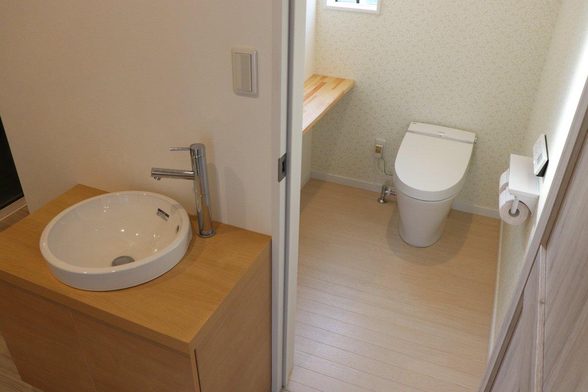 ✨#早川建設施工事例✨  手洗い器は廊下に置き、トイレの中はすっきり広々空間に😉 ちょっと手を洗いたいときにもサッと洗えて便利です~! https://t.co/sxJC3MscZ6  #館山市 #南房総市 #鴨川市 #移住 #別荘 #注文住宅 #新築 #高性能住宅 #ZEH #ゼロエネルギーハウス #スーパーウォール #家づくり https://t.co/wloRLvDw4C