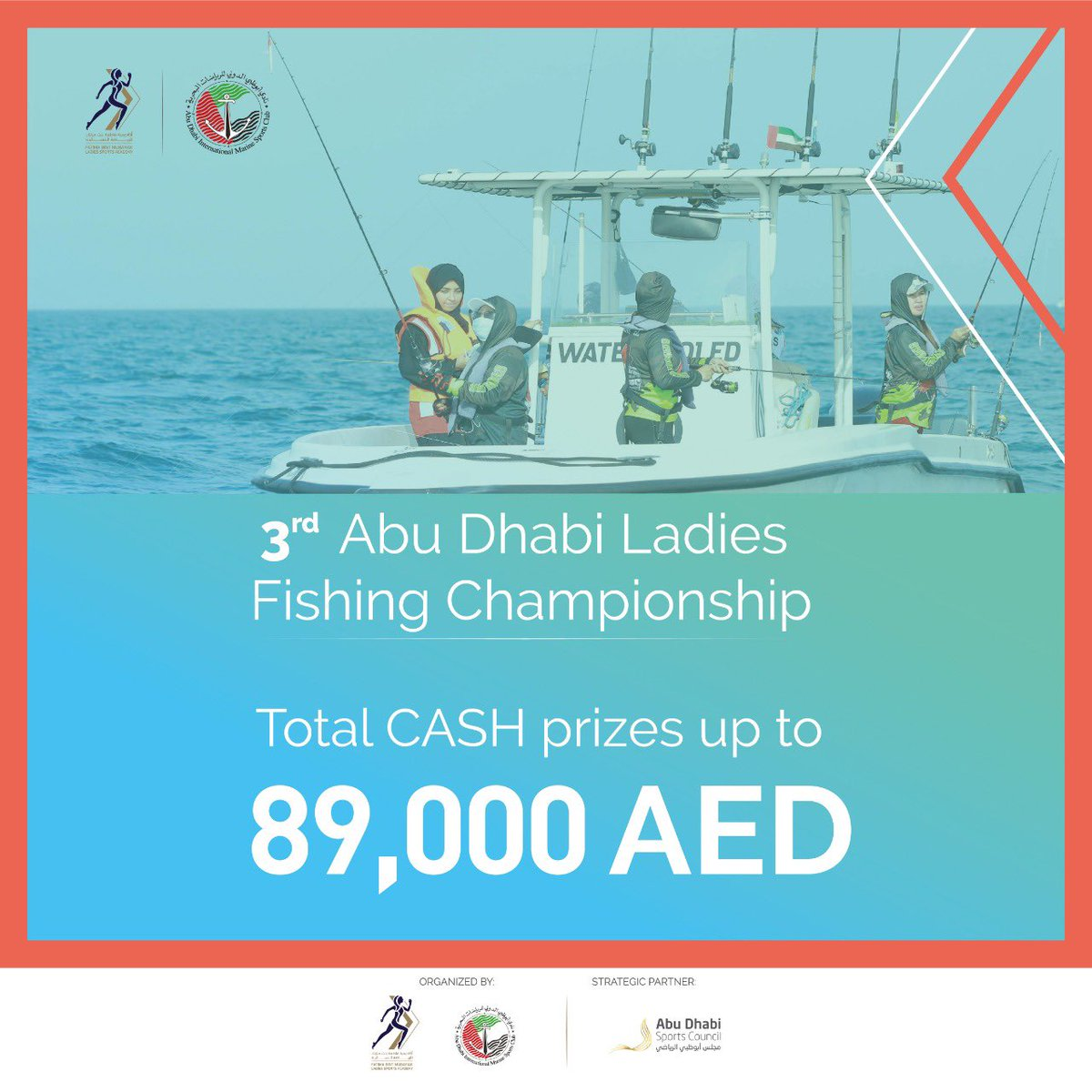 Incredible cash prizes await the winners of our 3rd Abu Dhabi Ladies Fishing Championship. Are you ready?  #MovingForward #UAESports #FBMA #AbuDhabi #InAbuDhabi #ADFBMA #fishing https://t.co/B11aTgDnHz