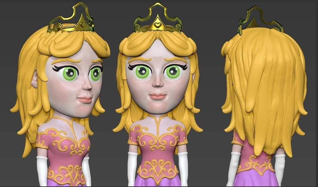 """Sculptember Day 21 tematic """"Beauty""""  Decidimos hacer a Aurora a la que, si bien bella era la eleccion natural u ovbia, Aurora recibio el Don de la Belleza al nacer :)   #sculptember #sculptember2020 #zbrush #Aurora  #Princesa #belladurmiente #funny  #hesamael #tridimagina https://t.co/W6oxUNH4DA"""