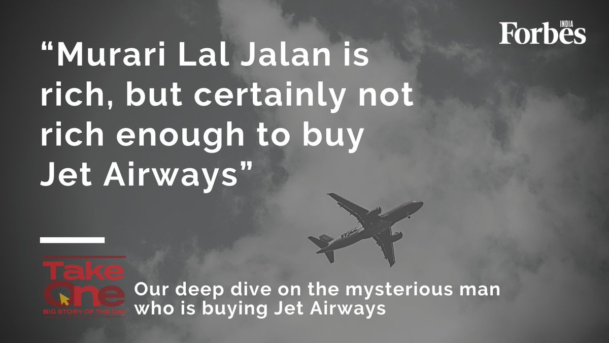 #TakeOne | Not much is known about Murari Lal Jalan, the businessman buying India's oldest private airline, Jet Airways. We bring you everything you need to know about him, today. Stay Tuned! https://t.co/SjpEMiDaDr