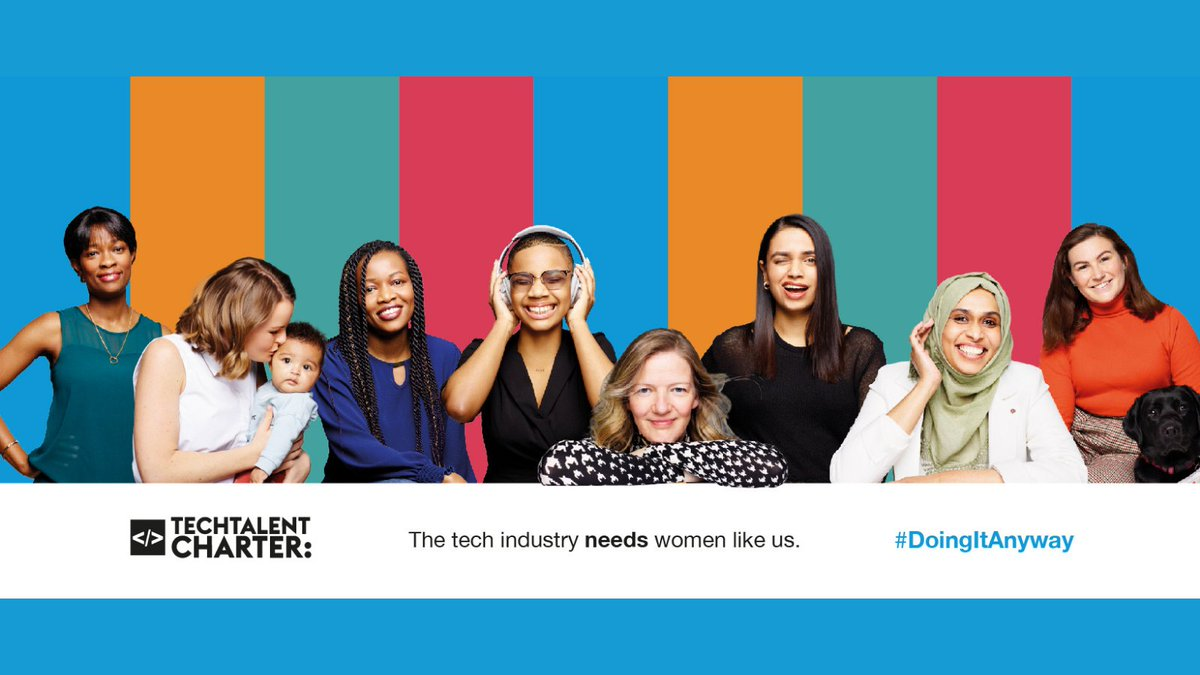 Today @techcharterUK launch the new #DoingItAnyway campaign, which is designed to tackle gender inequality in the #Tech sector 💻  Follow along as they share the stories of 8 inspiring women who have found #TechCareers through non-traditional paths 👉🏿  https://t.co/J3Vog7dmn2 https://t.co/FZX65DdkuP