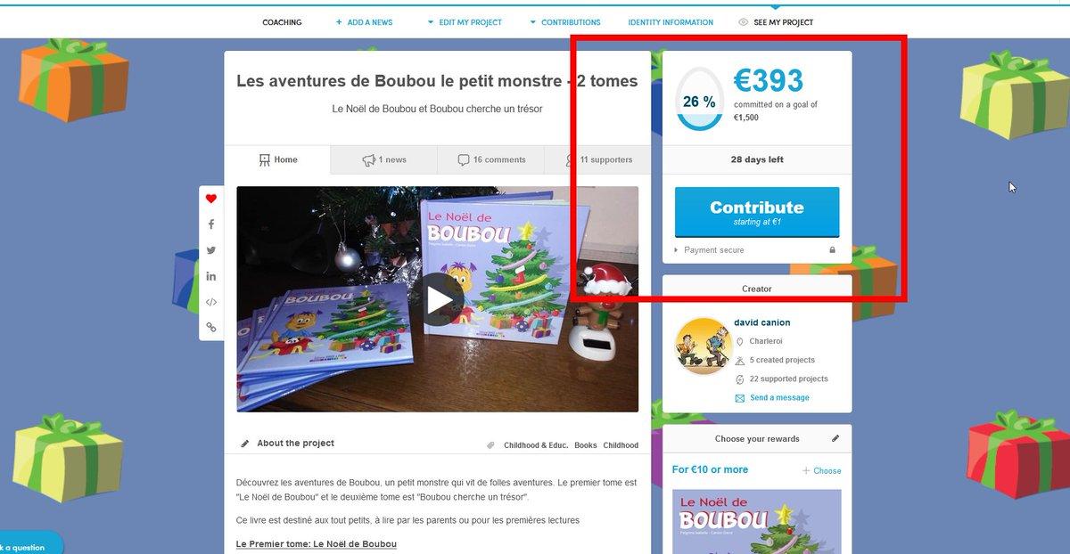 Vous êtes super !! A peine 2 jours et le projet dépasse les 25 %   https://t.co/UDOiX296JU  #editionsbandeapart #livrejeunesse #projet #cadeau #noel #illustration #monstre #tendresse #ulule #ululeproject #aventure #charleroi #belgium #france #ransart #edition #soutien https://t.co/voOoISoW91