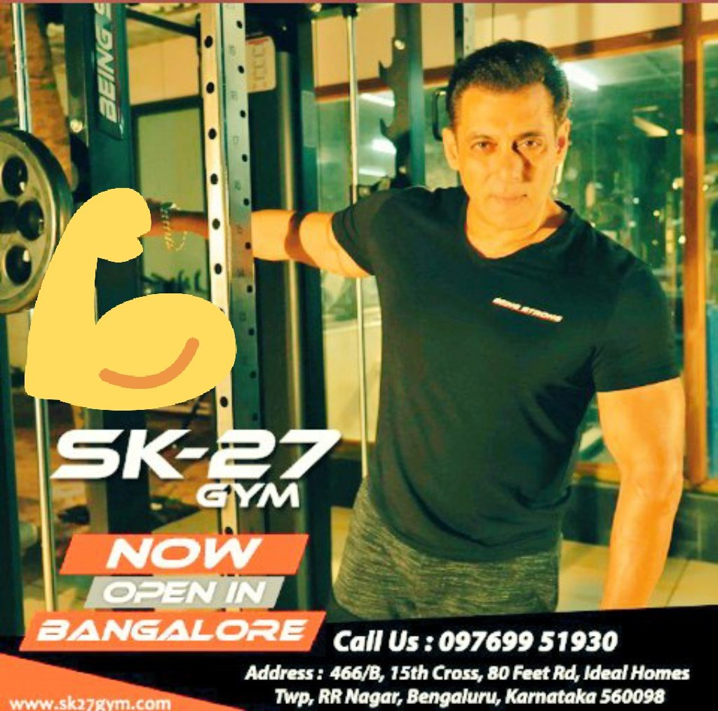 #SK27GymBangalore specially new gym open in  Bangalore may you be gifted with life biggest joys and never ending bliss.after all you yourself are a gift to earth so you deserve the best gym new successful Banging SK-27 gym in Bangalore😋😋😋😋😋😋 #Beingstrong #SK27GymBangalore