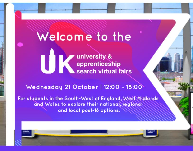 We're @UKUniSearch Virtual Fair for #SouthWest, #WestMidlands & #Wales today from 12-6pm, talking all about life and study @LivUni! 😁👋 See you at: https://t.co/CeYQtmFCAw 👍 #LivOriginal #UKUniversitySearch #Liverpool https://t.co/L06XhwChpf