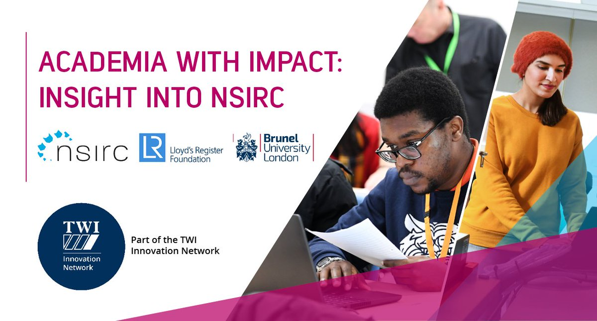 Join our webinar this Thursday as we begin our new series: Academia with Impact. This week, we explore how postgraduate research is taking place within industry at #NSIRC, with guests from @LR_Foundation, @Bruneluni and @TWI_Ltd . More info > twi-global.com/nsirc/news/202…
