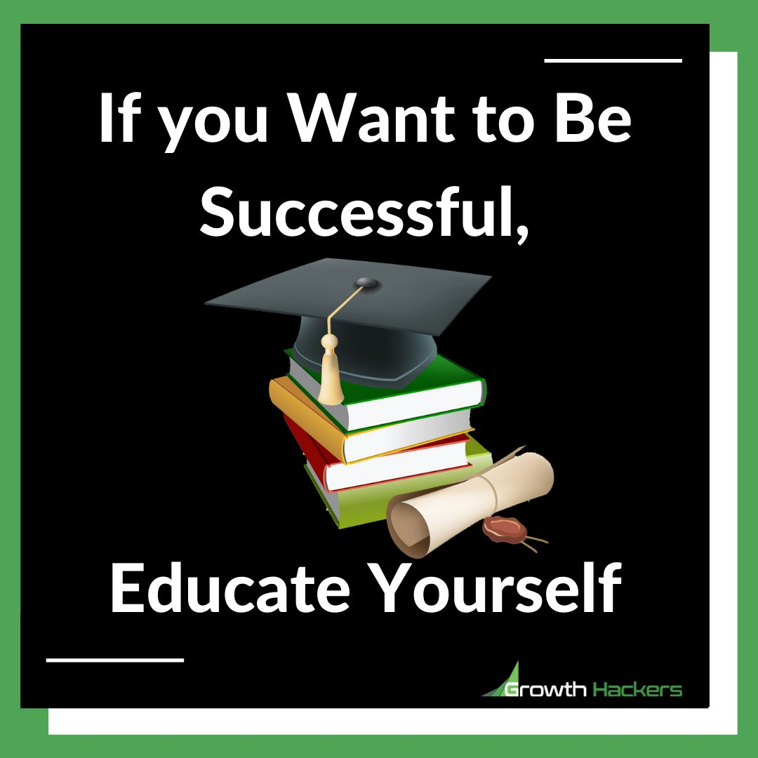 If you Want to Be Successful, Educate Yourself  #Education #Successful #Books #Reading #Success #EducationNeverDies #Learn #Learning https://t.co/VEsXSL0N7i