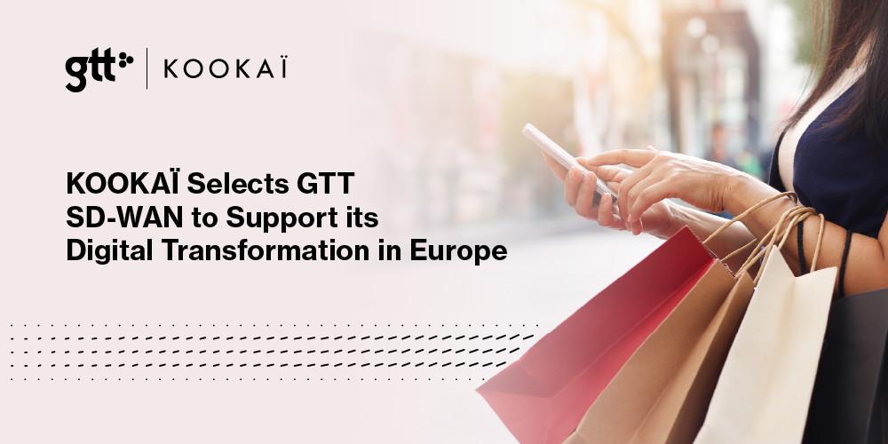 KOOKAÏ väljer GTTs SD-WAN för att stötta den digitala transformationen i Europa https://t.co/lP7YEpZa3H https://t.co/jWD0MvXjM7