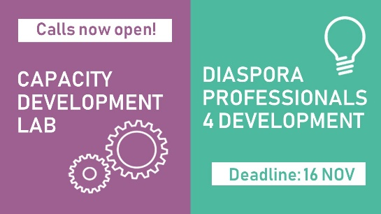 📣Call for applications for capacity development and diaspora expertise! 👉🏿 https://t.co/Rrve6Qr9yP   EUDiF is supporting the #Diaspora #development  ecosystem to engage and collaborate more effectively via  ⚒️Capacity development 👩🏿‍💼Diaspora expertise  APPLY NOW!   #MigrationEU https://t.co/ChY8COouLS