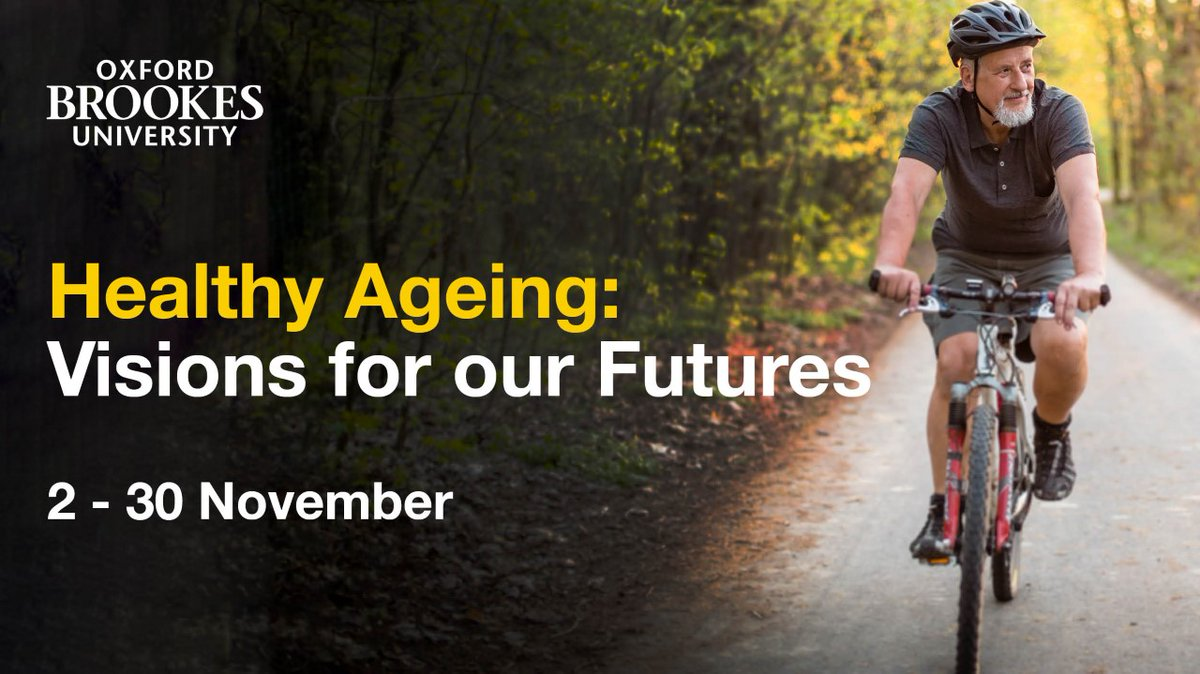 RT @AgeUKOxon: To mark the @WHO's Decade of Healthy Ageing, @oxford_brookes is running a month of FREE lunchtime seminars, workshops and talks to illustrate the breadth and depth of action that we can take.   Book online ➡️ https://t.co/akOdQrNuir