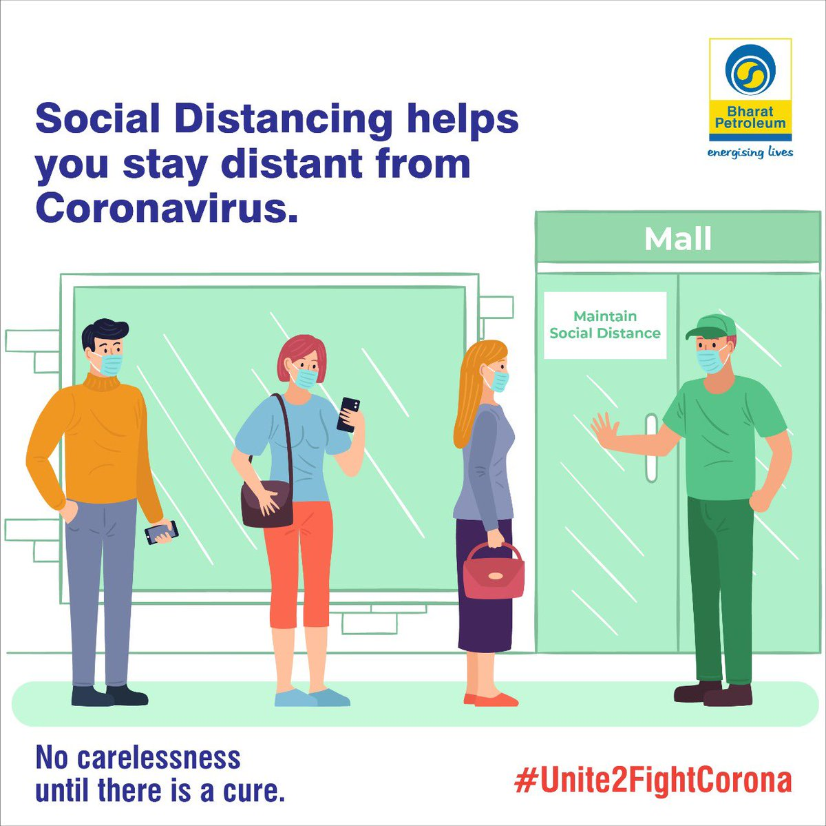 Stay Protected from #Coronavirus Wear a Mask, Follow Social Distancing, Wash Your Hands #NoCarelessnessUntilThereIsACure #Unite2FightCorona @BPCLimited https://t.co/8gkBhT8QBU