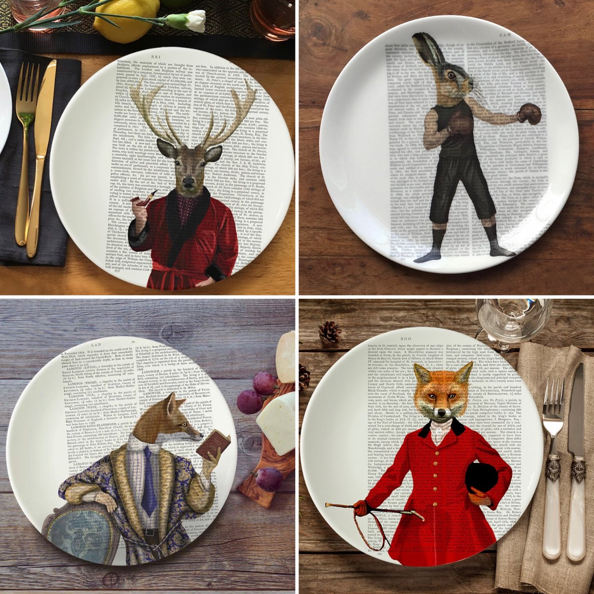Last chance to own a Fab Funky bone china plate! We only have a few in various sizes left in stock. So hurry before they are all gone. Only available in our #etsyshop https://t.co/pWlMvG44yt #bonechinaplate #decorativeplate #woodlandanimals #fox #hare #deer https://t.co/Mx6wRg9zzU