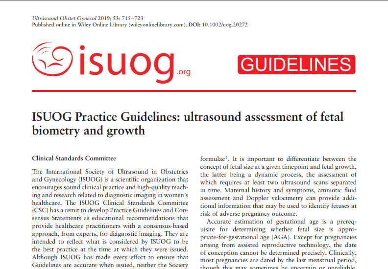 ISUOG develops free access international Practice Guidelines and Consensus Statements to assist health care professionals in obstetrics and gynecology with maintaining the highest possible clinical practice standards for our speciality. https://t.co/fbOw2AijR7  #LoveUltrasound https://t.co/9JSKbToLeO