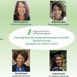 So excited about the fabulous panel for this American Society of Pharmacognosy webinar on Fostering Diversity and Inclusion in Scientific Research Groups.  Please join us on November 12th at 4:00 ET.  Free to everyone.  Register here https://t.co/wR4pPUHxa9 @sabahzero