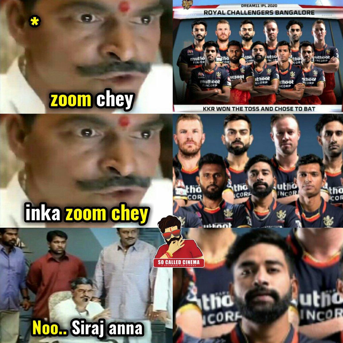 Mohammed Siraj comes in for Shahbaz Ahmed.   #IPL2020 #Dream11IPL #WeAreChallengers #KKRvRCB #SoCalledCinema https://t.co/L5JgIWuV1H