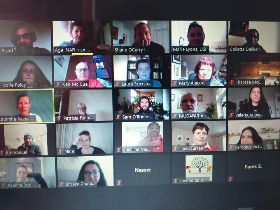 Fantastic Members meeting yesterday!Grt discussions on CERD followup,#NationalActionPlanAgainstRacism,#hatecrime,#hatespeech,plenty of updates on #antiracism work.Welcomed new Members:Cumann Na Daoine,@FFFireland,@ILMIreland,@SpunOut!  Despite #lockdown anti-racism work continues https://t.co/73R5XBqwgL