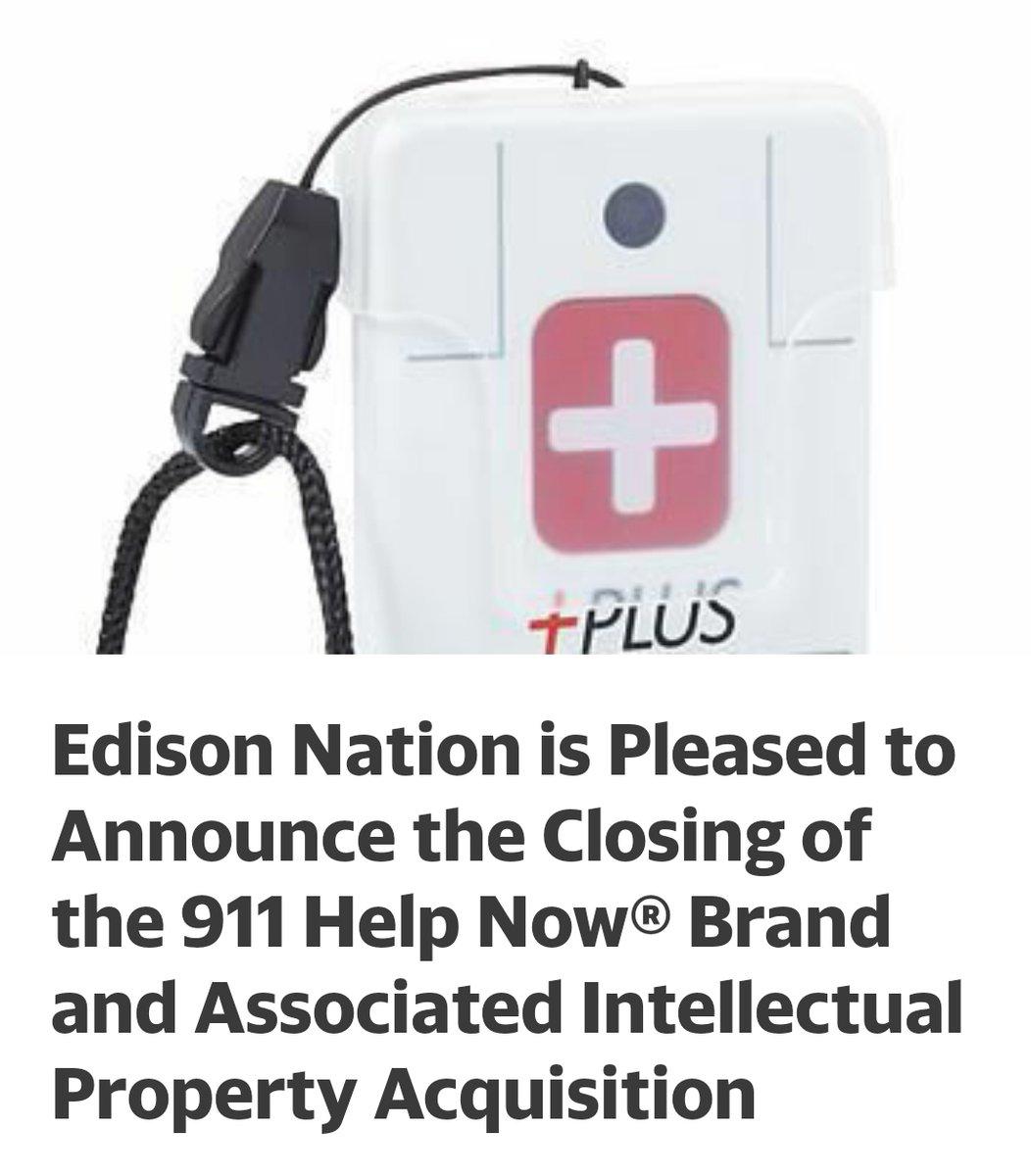 $EDNT Announce the Closing of the 911 Help Now® Brand https://t.co/9UDVKtS3cB  #cannabis #marijuana #CBD #wsj #nytimes #business #reuters #IHub_StockPosts #forbes #marketwatch #cnn #bet #foxnews #latimes #Crainschicago #usatoday #cnnmoneyinvest #ESPN #WGN #Accredited #Investors https://t.co/hP1XYqD2eI