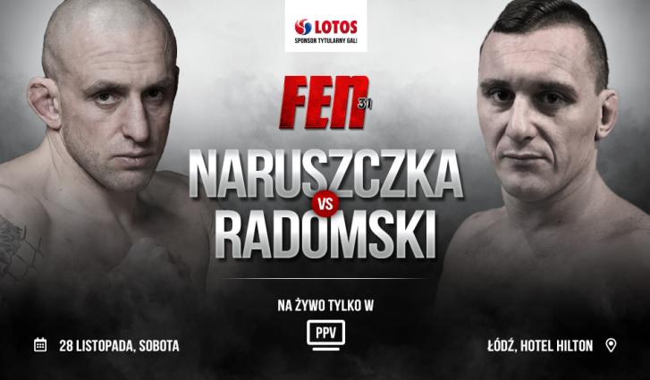 Marcin Naruszczka zmierzy się z Robertem Radomskim na FEN 31   https://t.co/EETC7aQ5TD https://t.co/8ATpYuBUXf