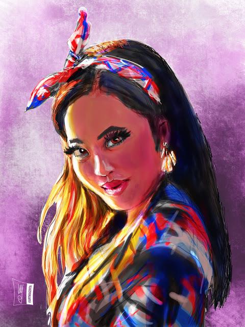Portrait (Z1856) #artmagenta #ulf #portraits #UlfAndersson21oct20 #artwork #painting #sketches #portraitpage https://t.co/mRMh89cq3A