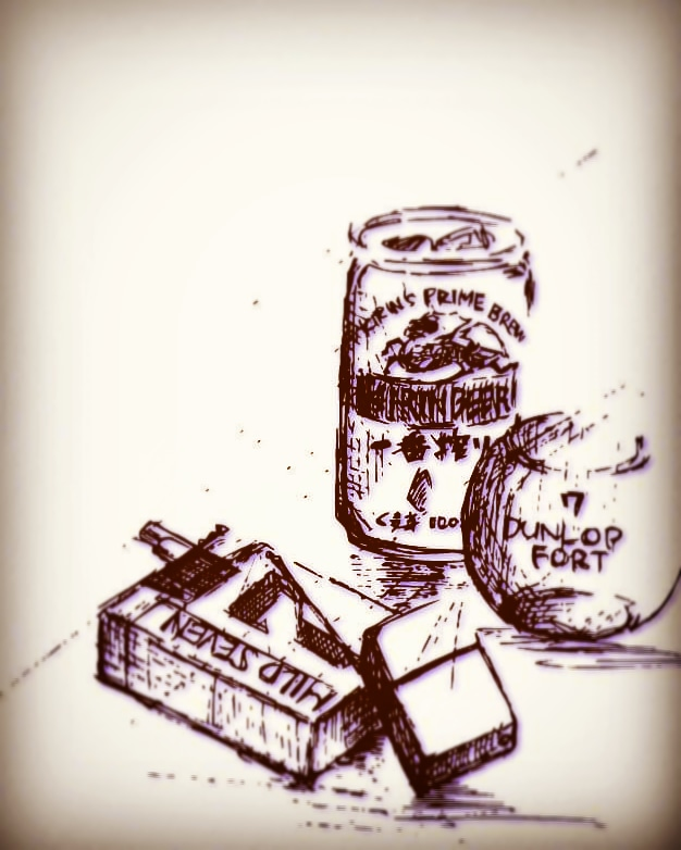 なぞってみた。なんか久しぶりのペン。  #一番搾り #beer #tennis #マイルドセブン #煙草 #イラスト好きな人と繋がりたい #イラスト #嗜好品 https://t.co/RbS9HyTt1Z