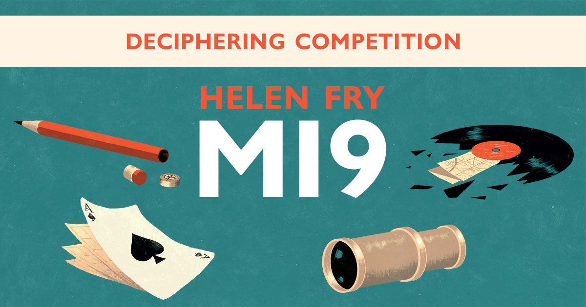 Our #competition to win signed copies of @DrHelenFry 's books on intelligence #history is still running!  Read on to find out how to enter and learn how to decode the encrypted letter inspired by #MI9👇 https://t.co/eslaFUOVY6 https://t.co/Mnhwdpd8od