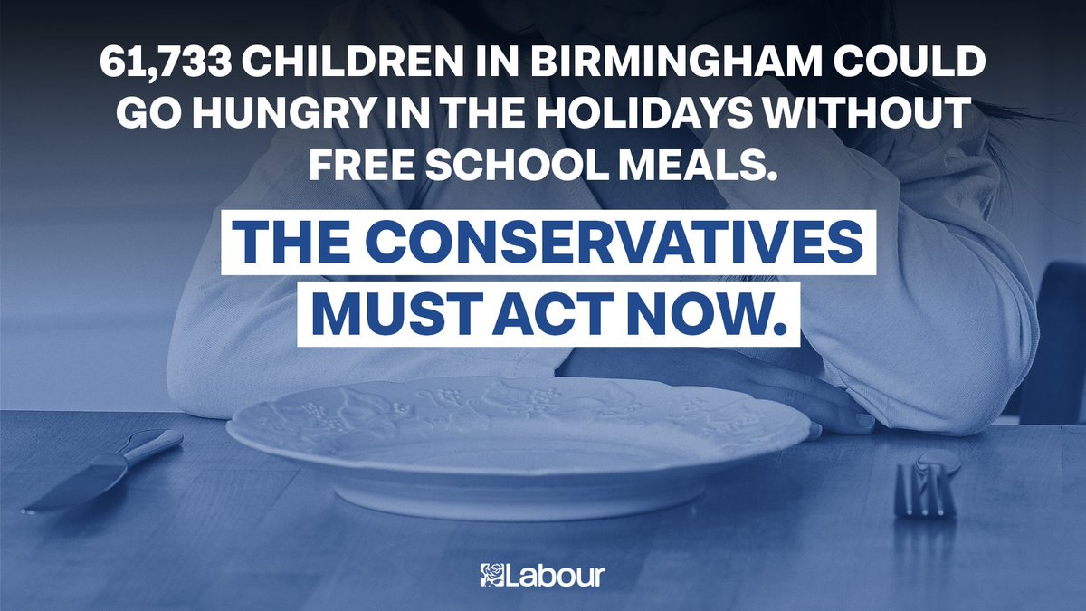 Birmingham's Tory MPs must support our motion today to extend free school meals across the Christmas holidays. https://t.co/X86Nr7igh7
