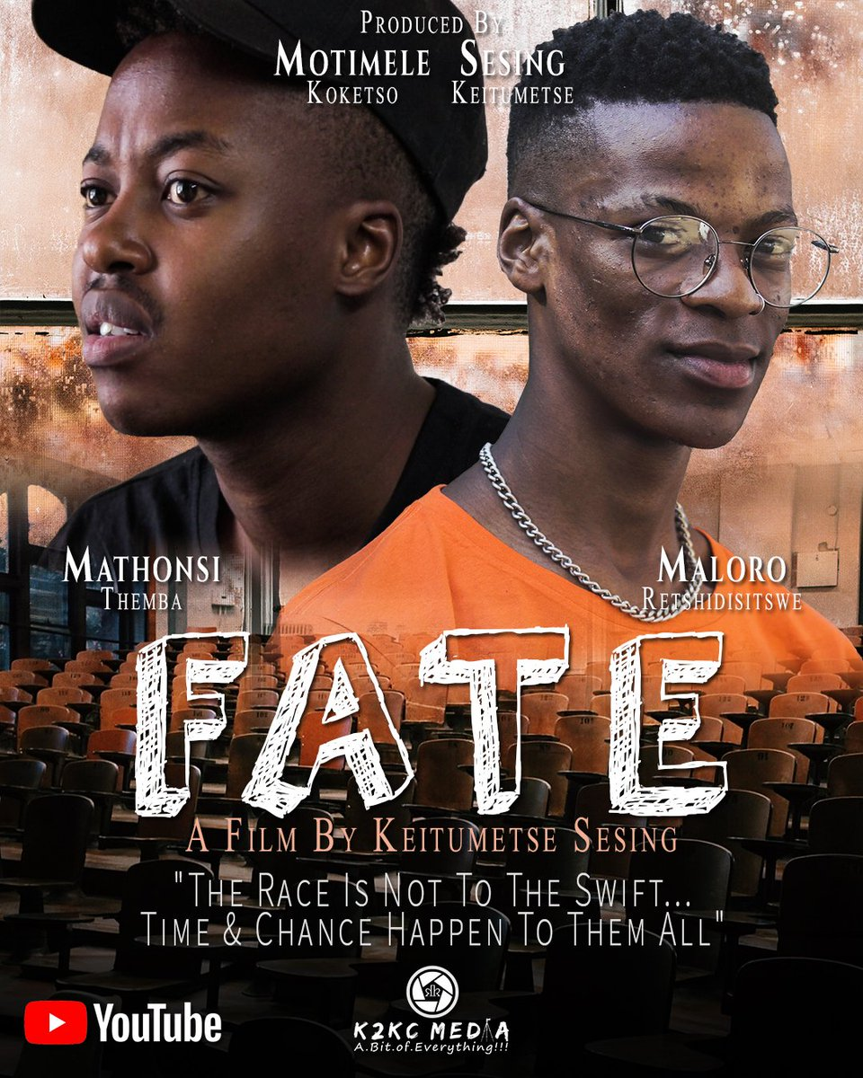 Now On YouTube  FATE (Official Film)🎬🎞  https://t.co/VYAy1FWIWV  Thank you  #k2kcmedia #Videographyisourthing #APartofMe #studentfilm #shutdown #mzansimagic #canonsa #cananofilms #video #fate #warona #film #southafricanfilm #Bloemtwitter #bloem #KeaDrive #Twitter https://t.co/12vN6qHrla