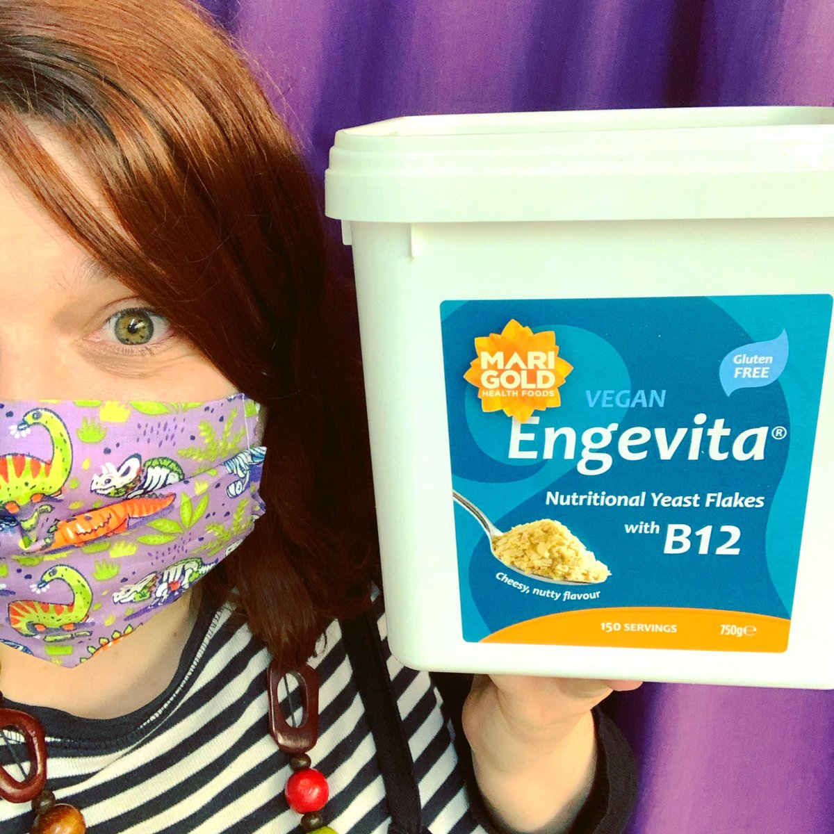 Big, HUGE, the size of Charlie's (big, huge) head tubs of everyone's favourite Marigold Engevita are now back in stock for those who NEED more than a regular size tub. Just look at this beauty!   Can't get in for your big huge nooch? Let us come to you! DM for more info! #Vegan https://t.co/hYlNUiRjV4
