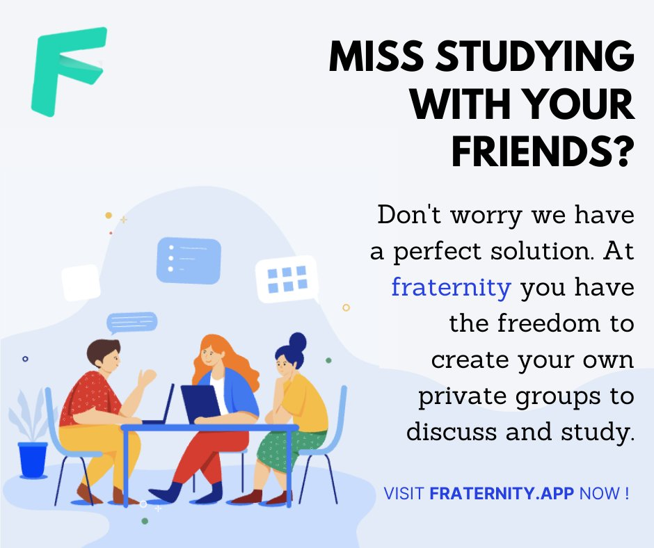 Welcome to FRATERNITY an online hangout just for students. Visit: https://t.co/KDgEaY0uYm #onlineeducation #onlineeducationplatform #Students #Parents #Teachers #studentlife #NewNormal #EducationForAll #education https://t.co/KtH25EzJjV