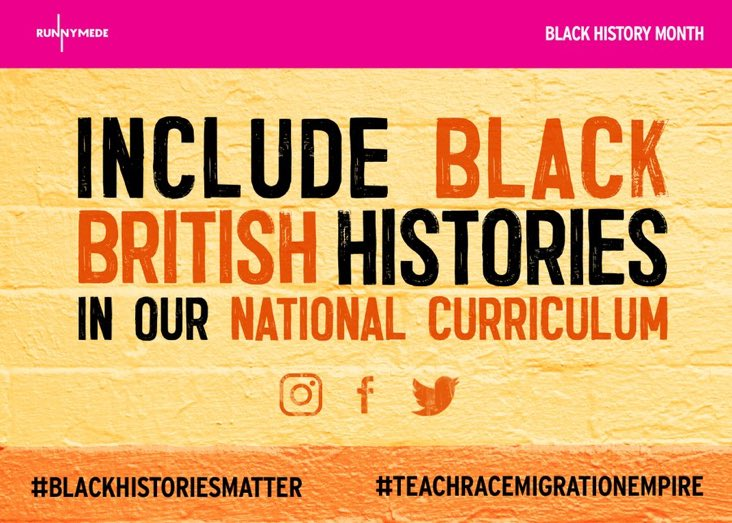Black history is British history. Young people should learn all parts of our history, even if parts of it are painful. To understand the present, we have to honestly confront the past #blackhistoriesmatter #BlackLivesMatter