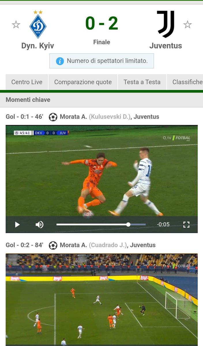#DinamoKievJuventus 0-2,,,,doppietta di #Morata,,,quel giocatore che fece arrivare con i suoi gol in finale la squadra di #Allegri,la testa di kayser che lo sostituì... https://t.co/W5yBoyLCTO https://t.co/g7qlUeWiC8