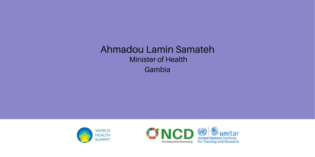 @MohGambia is joining the @WorldHealthSmt session panel. The session aims to mobilise global action to enable 90 LMICs to achieve SDG3.4  Register to join: https://t.co/KByY2a67fB #Gambia #NCD #NCDs #COVID19 #WHS2020 #SDG #SDGs #SDG3 #SDG3.4 #globalhealth #UHC https://t.co/ujQdJ8s8lK