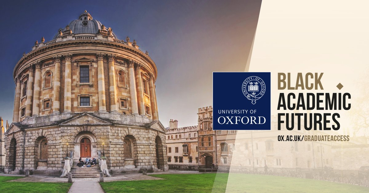 Introducing #BlackAcademicFutures, a major new scholarship scheme for UK Black and Mixed-Black students applying for DPhil/PhD at Oxford. Find out more about the awards and how to apply: https://t.co/DiaDmas3T7 https://t.co/gwhm6jDaps