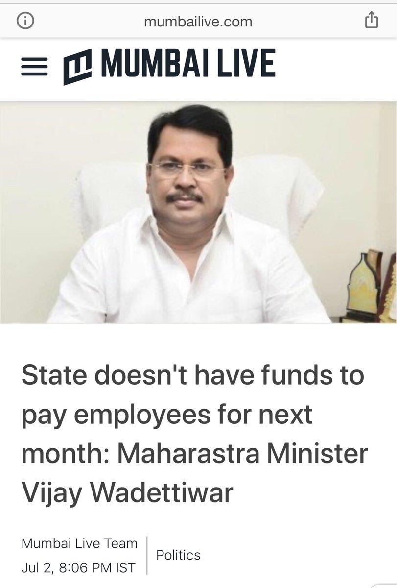 So @OfficeofUT has no money to pay to state employees, but it is going to pay Wormtail @KapilSibal 10,00,000 rupees and Rahul Chitnis 1,50,000 rupees PER appearance in the Arnab case, which will go from the @MumbaiPolice professional fund! Well done, Marie Antoinette Of Mumbai! https://t.co/n8cAr2ryTh