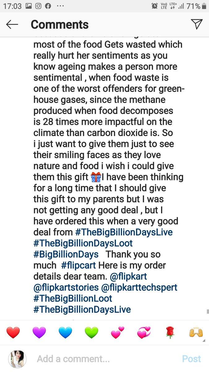 @Flipkart Here is my order details dear team @Flipkart #BigBillionDays #BigBillionLoot #TheBigBillionDaysLive #TheBigBillionDaysSpecials