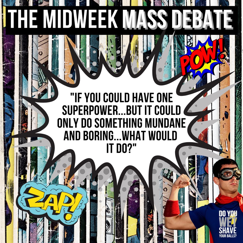 Come on then, let's have your mundane superpowers! 🦸♂️   We answered this on Ep10 of our pod (out now here https://t.co/AJR4BMYm92) but wanted to know yours as well  #podcast #podcasts #PodcastRecommendations #podernfamily #podcastlife #podcasthost #superhero #superpower https://t.co/hD3z9vthur
