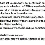 Image for the Tweet beginning: 1/UK C19 Lockdown Carnage: Excess