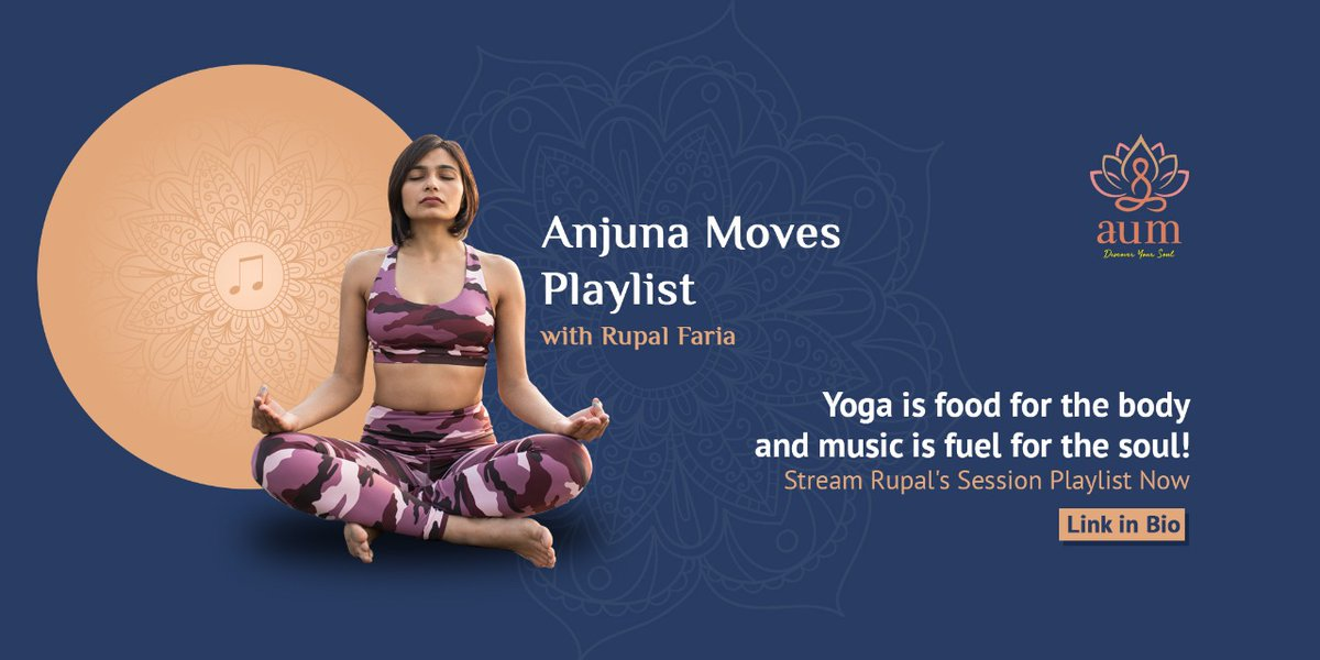 Linking Yoga to the beat, A yoga teacher and personal trainer, @rupal_sidh shares with us her #AnjunaMoves Session Playlist! 🧘🏻‍♀️🎶  This playlist helps you guide your focus inward as you relax more deeply into the connection, balance and harmony.   #AUM #AUMFestival #AnjunaBeats https://t.co/JDNiAWKg68