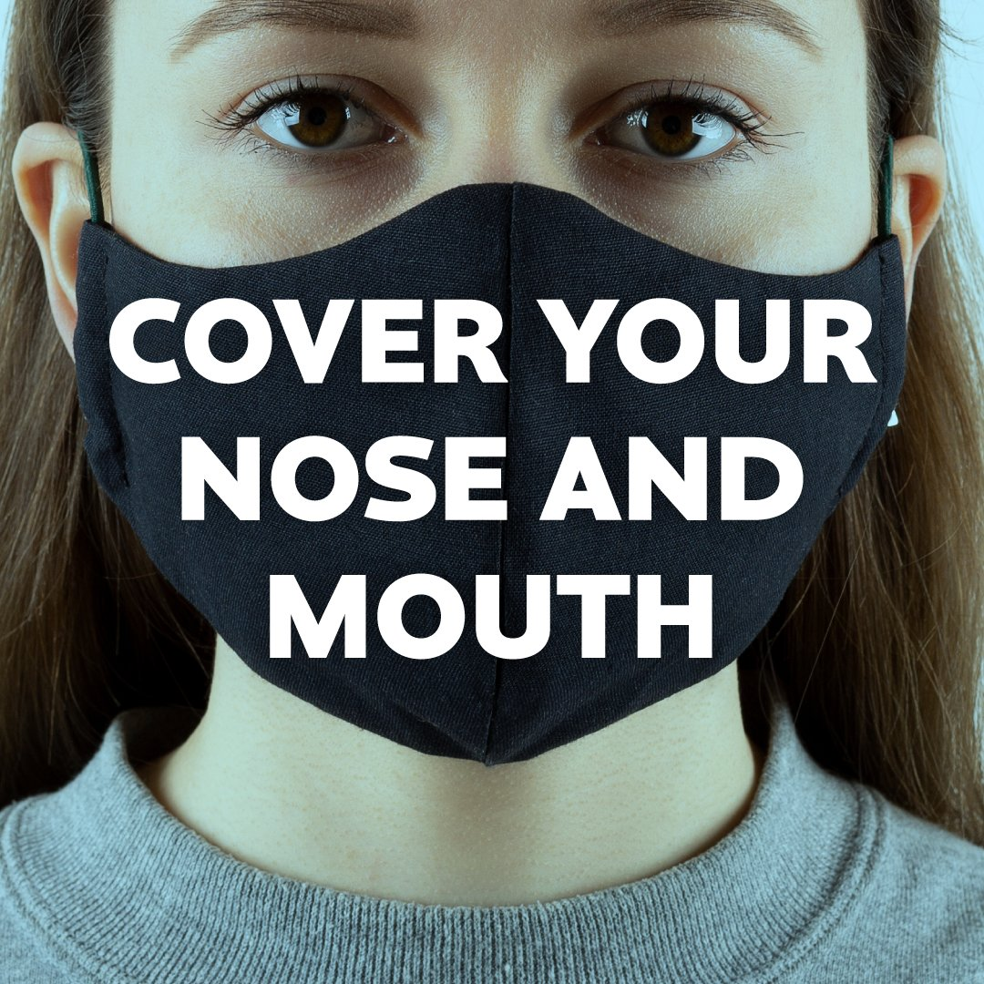 😷 Cover your nose and mouth to help protect others. #StayAlertSaveLives https://t.co/fTJ6SZ7Ep9