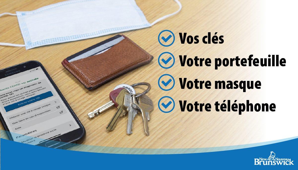 Faites ce qu'il faut pour prévenir la propagation. La prochaine fois que vous sortirez faire des courses, pensez à prendre :  ☑️  Vos clés ☑️  Votre portefeuille ☑️  Votre masque ☑️  Votre téléphone https://t.co/RNaJAxqpYV #AlerteCovid  https://t.co/J7mAtONNmN https://t.co/90orDnqwZy