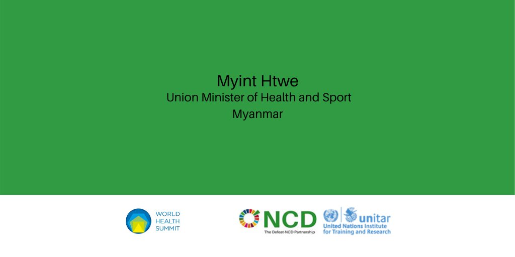 Dr. Myint Htwe, will present Myanmar's 2-year strategy, and a costed action plan, to tackle NCDs, at a high-level session @WorldHealthSmt   Register to join: https://t.co/C9U4sFN2p3  #Myanmar #NCD #NCDs #COVID19 #WHS2020 #SDG #SDGs #SDG3 #SDG3.4 #globalhealth #UHC https://t.co/seA1wXqjY1