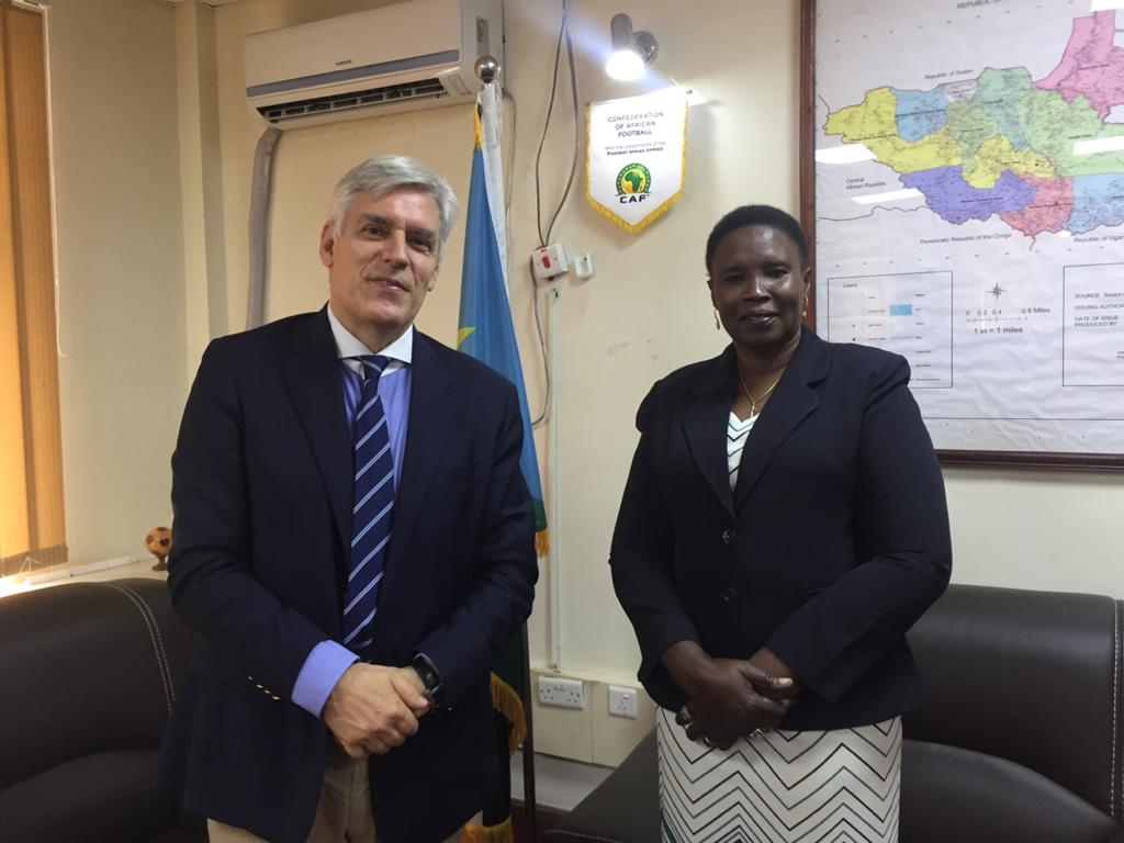 Ambassador Christian Bader on Monday met Minister of Culture, Dr Nadia Arop Dudi. The two discussed plans for National Museum & Library where archives are housed & the need to preserve the cultures, traditions & languages of #SouthSudan. #SSOT. More: https://t.co/iM0YNYCzeR https://t.co/XcIt7TrM4Z