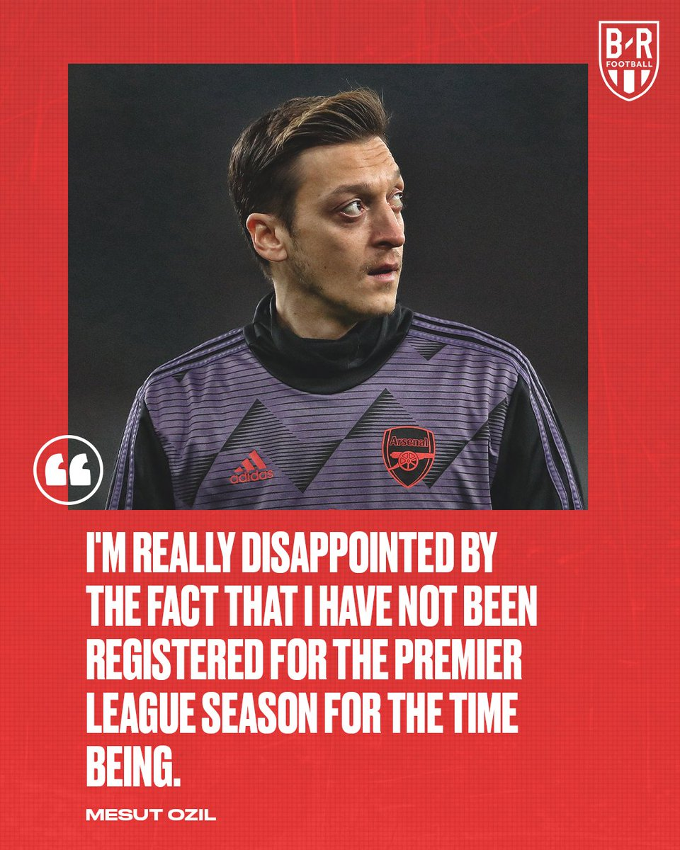 RT @brfootball: Mesut Ozil on being left out of Arsenal's Premier League squad 👀 https://t.co/pX5ddFtiEv