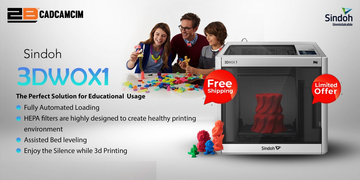 With Sindoh 3DWOX1 there is no Obstacle will face you in 3D printing in Educational Usage  You can now print your design directly Using 3DWOX mobile app and monitor the print progress remotely in a Silent mode. https://t.co/GZQDckGVFf UAE: +971450815 KSA: +96653845281 https://t.co/VRa7KHAB4U
