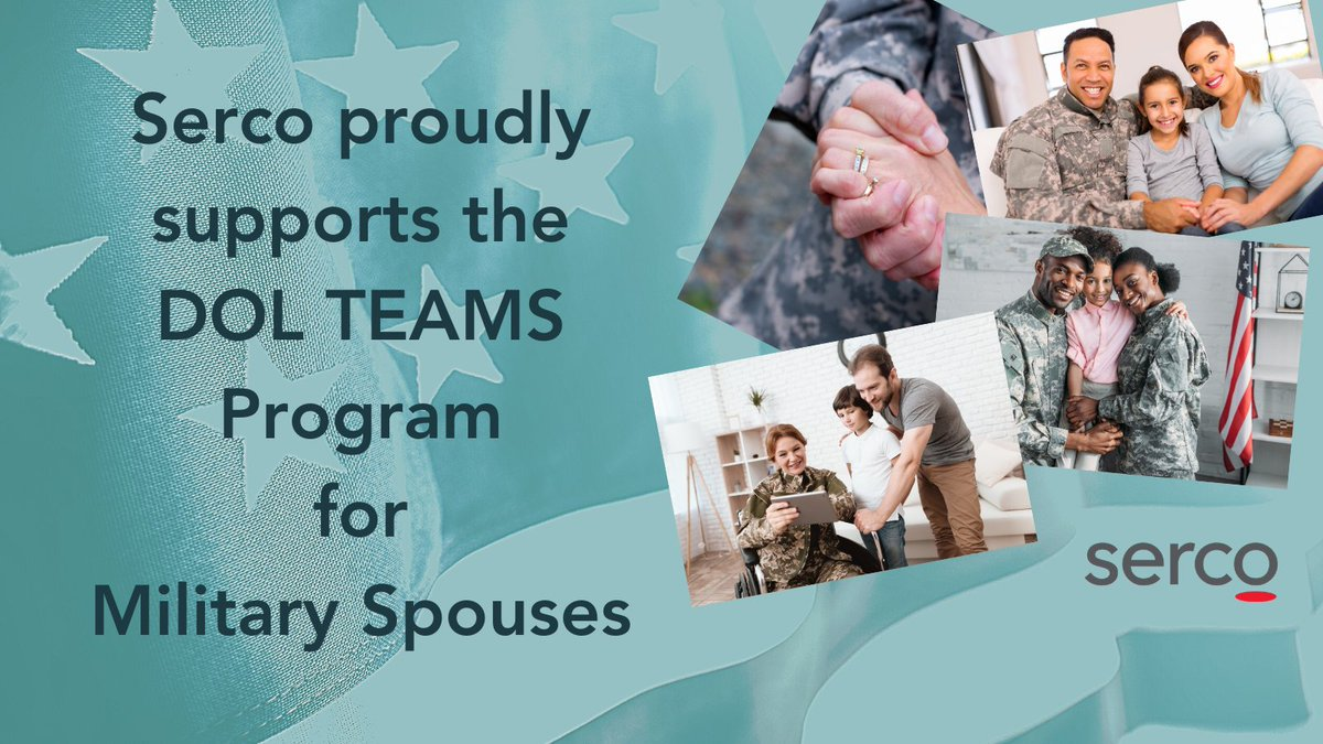 Have you seen the new @USDOL TEAMS program? Check it out here: https://t.co/uUlo3ChSP9. We are proud to be a part of this valuable resource. #sercoandproud #militaryfamily #veterans #milspouse https://t.co/KpHLfknzZA https://t.co/TByGoPIaOF
