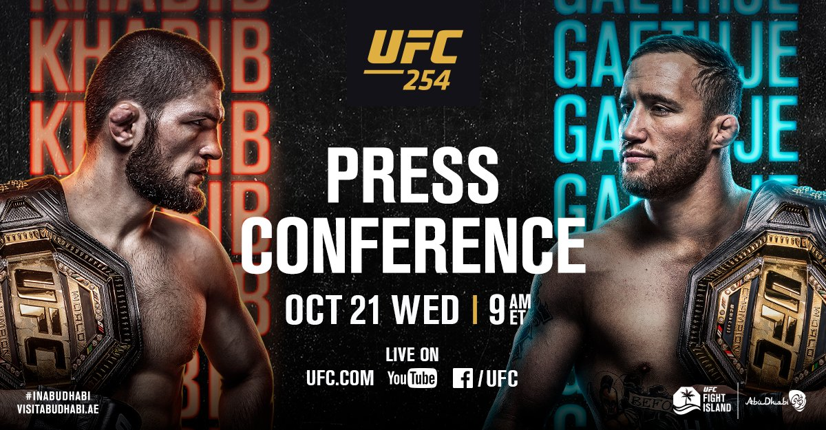 Replying to @ufc: Streaming LIVE in moments 🎤  🏆 @TeamKhabib vs 🏆 @Justin_Gaethje   [ Tune in live:  ]
