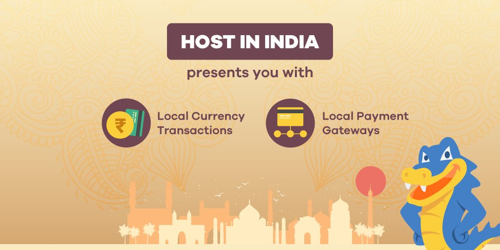 With HostGator's #HostInIndia program, offer your customers a localised experience!  What's more? ✔ Local currency transactions with no impact of forex changes  ✔ Local payment gateways that make online payments easy and more!  To know more: https://t.co/IvezRmSdOC  #hosting https://t.co/GBYqZ3CvNk
