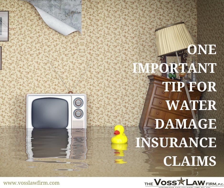 water damage insurance claim